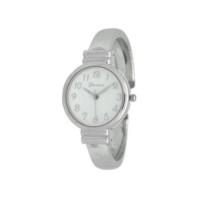 Olivia Pratt Womens Silver Tone Strap Watch-17517silver