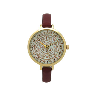 Olivia Pratt Womens Red Strap Watch-16849red