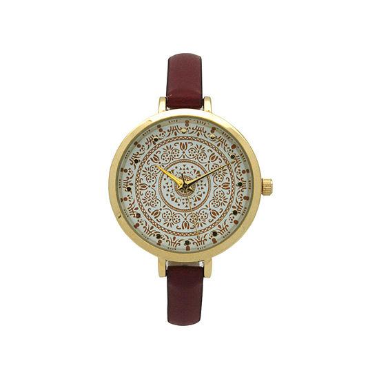 Olivia Pratt Womens Red Strap Watch-16849red