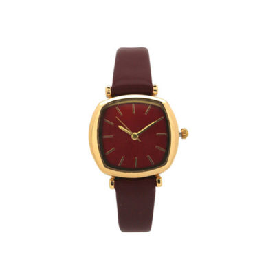 Olivia Pratt Womens Red Strap Watch-D27069red