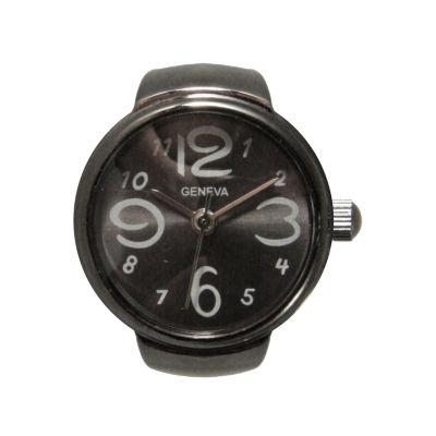 Olivia Pratt Ring Womens Gray Strap Watch-15007gunmetal