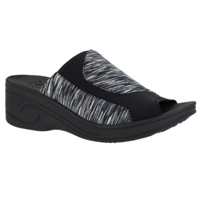 Easy Street Slight Womens Slide Sandals Narrow