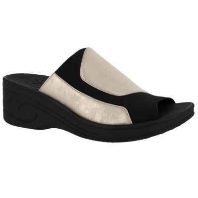 Easy Street Slight Womens Slide Sandals Extra Wide