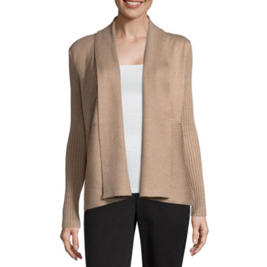 Liz Claiborne Ribbed Cardigan - Tall