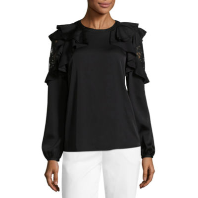 Worthington Lace Cold Shoulder Blouse - Tall