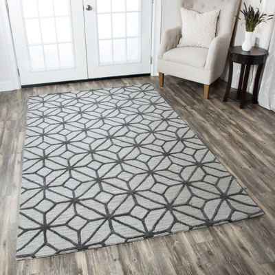 Rizzy Home Luniccia Collection Kaitlyn Geometric Rugs