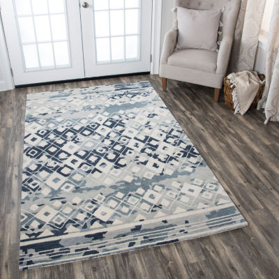 Rizzy Home Marianna Fields Collection Charlie Diamond Rectangular Rugs