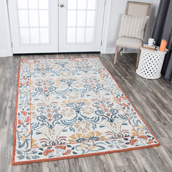 Rizzy Home Opulent Collection Juliette Floral Rectangular Rugs