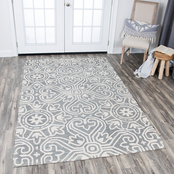 Rizzy Home Opulent Collection Lucia Medallion Rectangular Rugs