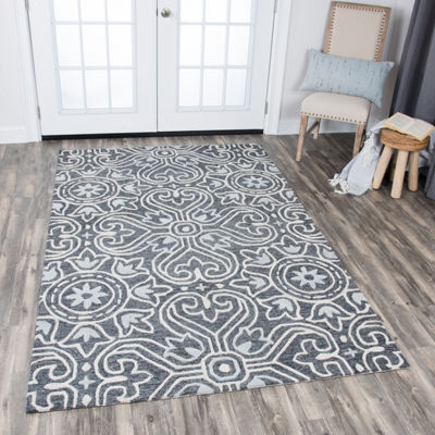 Rizzy Home Opulent Collection Maya Medallion Rectangular Rugs