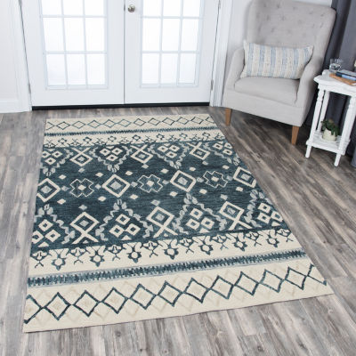 Rizzy Home Opulent Collection Navaeh Diamond Rectangular Rugs