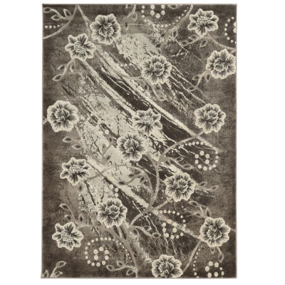 Jewel Collection Floral Power Loomed Rug