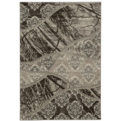 Jewel Collection Patchwork Geo Power Loomed Rug