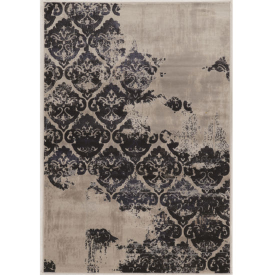 Jewel Collection Vintage Medallion Power Loomed Rug