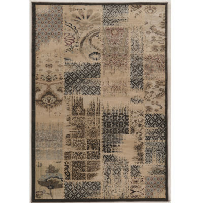 Jewel Collection Vintage Abstract Power Loomed Rug