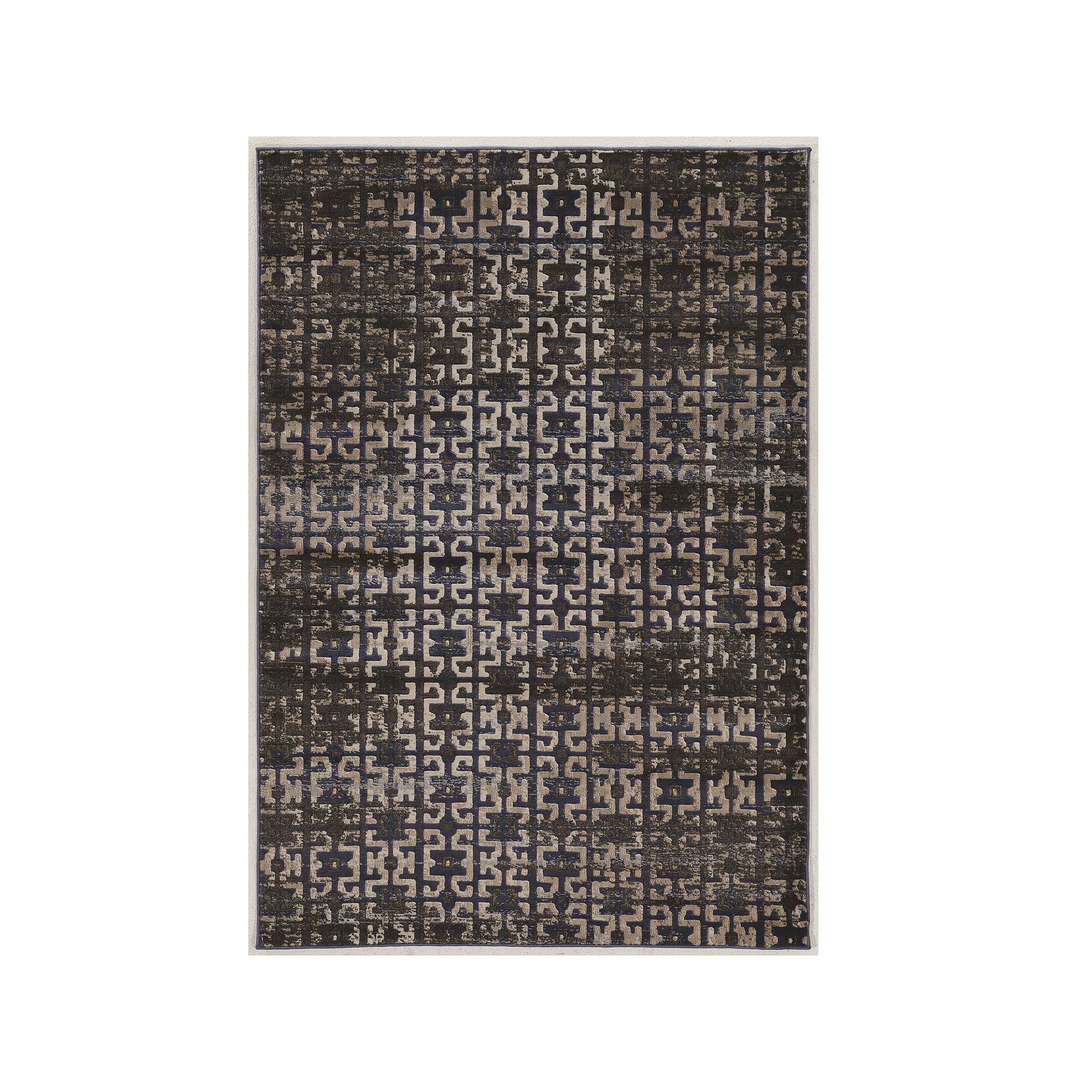 Jewel Collection Vintage Maze Power Loomed Rug