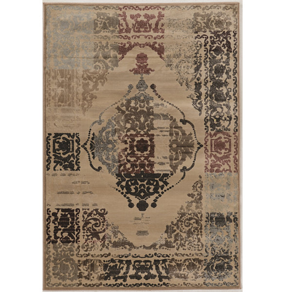 Jewel Collection Vintage Oriental Power Loomed Rug