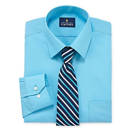 Stafford stafford travel easy care big and tall shirt for Stafford big and tall shirts