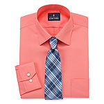 Stafford Travel Easy-Care Shirt + Tie Set- Big And Tall