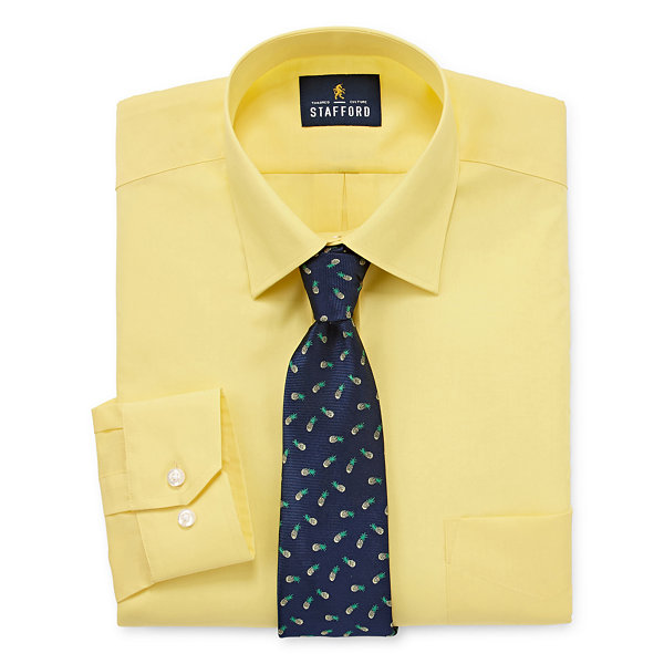 Stafford Travel Easy-Care Shirt + Tie Set