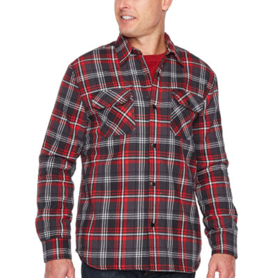 Big Mac Sherpa linedt Shirt Jacket - Big & Tall