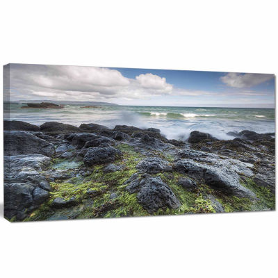 Designart Rocky North Ireland Seashore PhotographyCanvas Art Print
