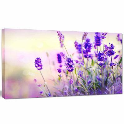 Designart Purple Lavender Field Floral PhotographyCanvas Art Print