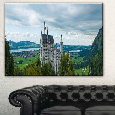 Design Art Castle Neuschwan Landscape Photography Canvas Art Print
