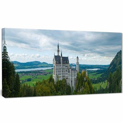 Designart Castle Neuschwan Landscape Photography Canvas Art Print
