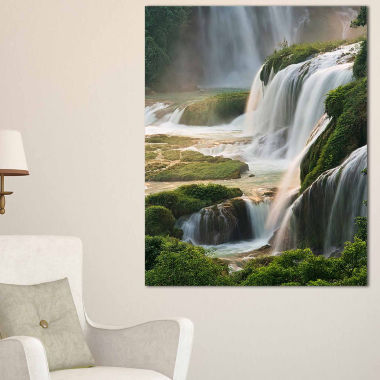Designart Detian Waterfall Landscape Photography Canvas Art Print