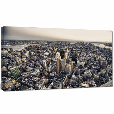 Designart Architecture And Colors Of New York Modern Cityscape Canvas Art Print