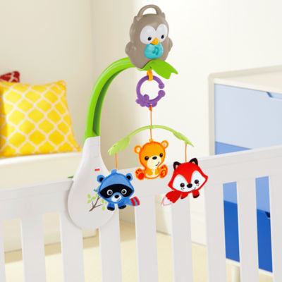 3-in-1 Woodland Friends Musical Mobile