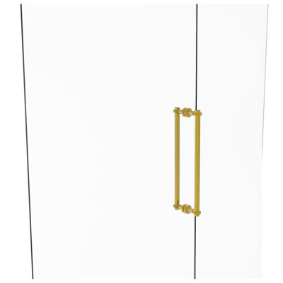 Allied Brass Contemporary 18 in. Back To Back Shower Door Pull With Twisted Accent