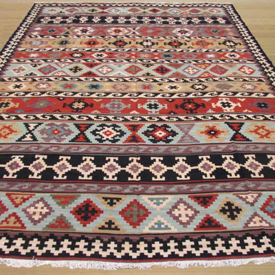 Eastern Rugs Hand-knotted Traditional Geometric Kyle Kilim Rug
