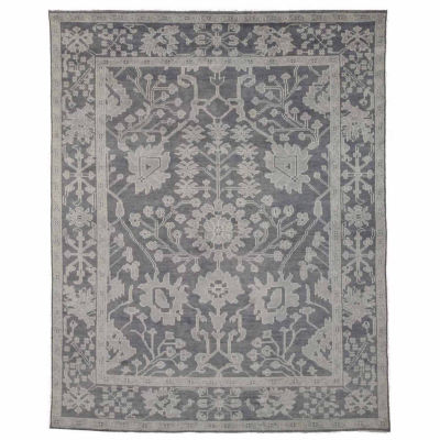 Eastern Rugs Hand-knotted Traditional Oriental Monochrome Oushak Rug