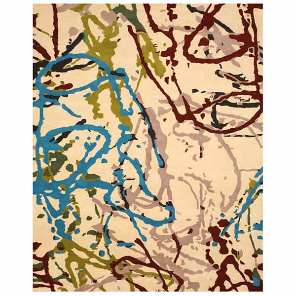 Eastern Rugs Hand-tufted Contemporary Abstract Spilo Rug