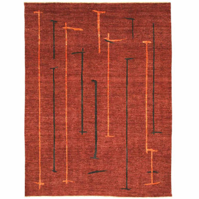 Eastern Rugs Hand-knotted Contemporary Abstract Peshawar Rug