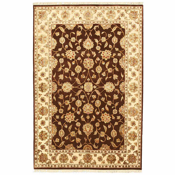 Eastern Rugs Hand-knotted Traditional Oriental Flower Jaipur Rug
