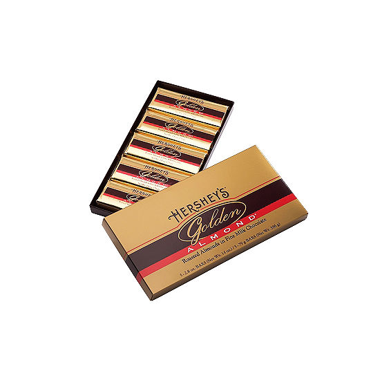 HERSHEY'S Golden Almond Chocolate Bar Gift Box 5 Count 2.8oz Bars