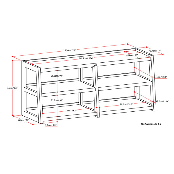 Sawhorse Wide TV Media Stand