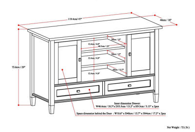 """Warm Shaker TV Media Stand"