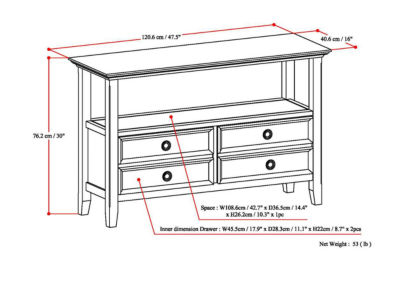 Amherst Console Sofa Table