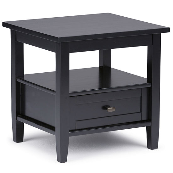 Warm Shaker End Side Table