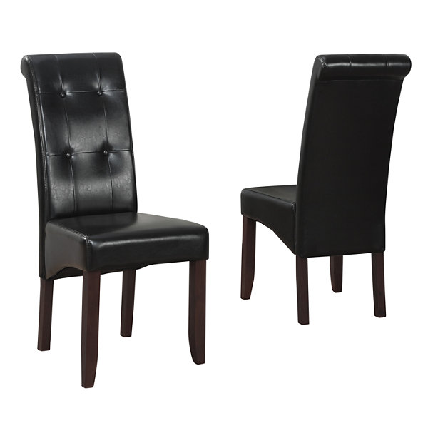 """Cosmopolitan Deluxe Tufted Parson Chair (Set Of 2)"