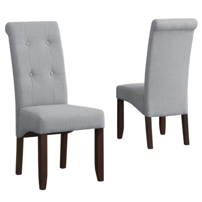 """""""Cosmopolitan Deluxe Tufted Parson Chair (Set Of 2)"""