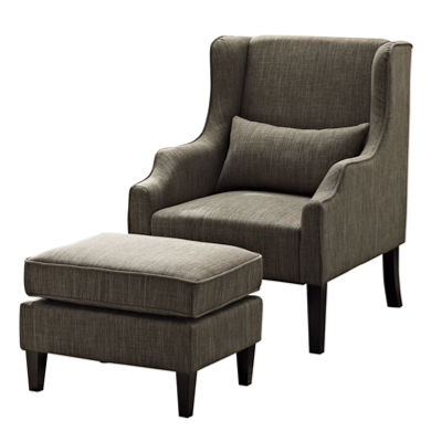 Ashbury Wingback Club Chair & Ottoman