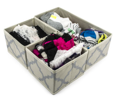 Sorbus Foldable Storage Drawer Closet Dresser Organizer Bins 3 Piece Set