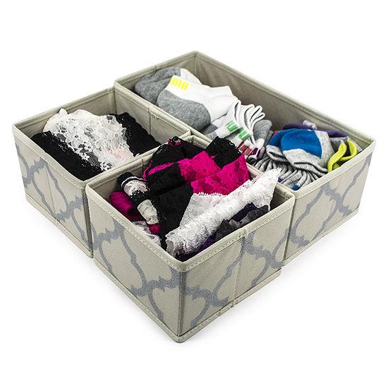 Sorbus Foldable Storage Drawer Closet Dresser Organizer Bins 3 Piece Set