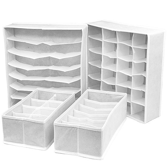 Sorbus Set Of 4 Foldable Drawer Dividers Storage Boxes Organizer