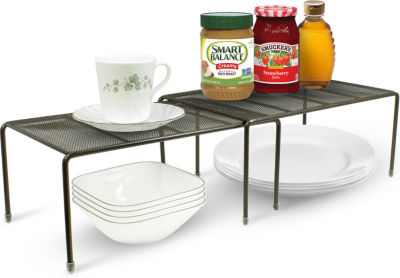 Sorbus Pantry Cabinet Organizers -Features Stackable Expandable Shelves Made of Steel